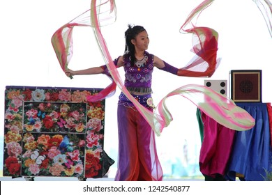 Performances made by participating youth in conjunction with Sabah State Level Youth Day celebrations at Ranau, Sabah, Malaysia on the 05/18/2014.