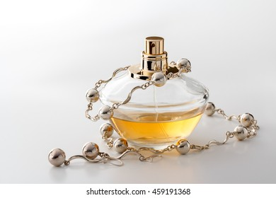 perfume bottle with beads