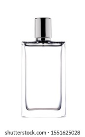 perfume bottle isolated on white background with clipping path and copy space for your text