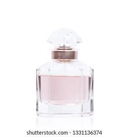 Perfume bottle  on white isolated background