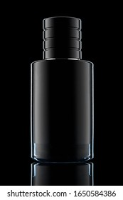 Perfume bottle over a black background