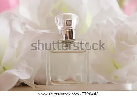 Perfume Bottle White Flower Stock Photo Edit Now 7790446