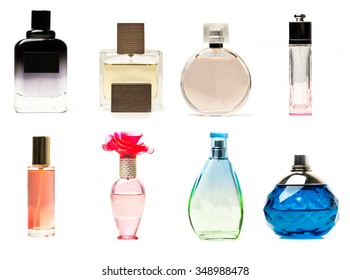 Perfume bottles collage