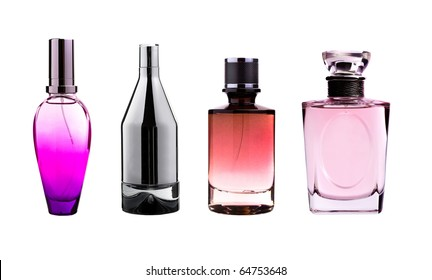 Perfume bottles isolated on white