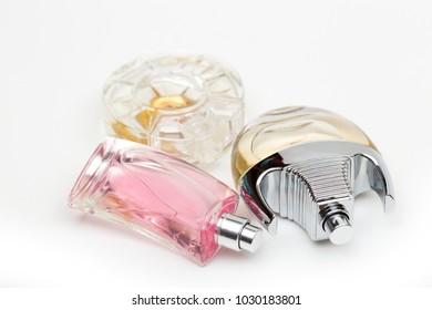 perfume on the white background