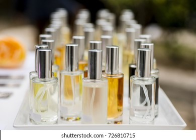 Perfume testers and sprays for scent recognition and culture.