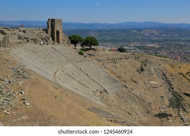 Pergamon, the Acropolis - the steepest ancient theater of the world. It was used for council meetings in the Roman period.