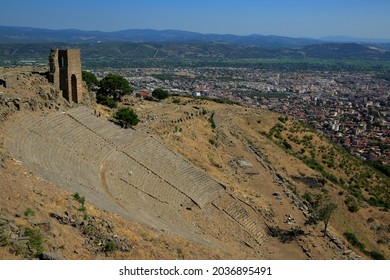 Pergamon, the Acropolis - the steepest ancient theater of the world. It was used for council meetings in the Roman period. Izmir, Turkey