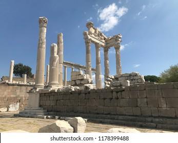 Pergamon Ancient City from Bergama, İzmir, Turkey