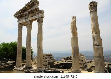 Pergamon Ancient City in İzmir Turkey