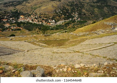 Pergamon Ancient Theatre from Top View