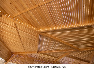 Pergola wood outdoor ceiling.