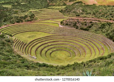 Peri, Cusco, Moray, Inca terraces used for agriculturel experiments