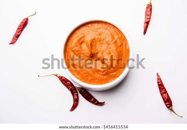 Peri Peri Sauce Bowl Originally Portugal Stock Photo Edit Now 1456415534