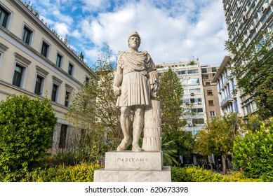 Pericles monument next to Ciy Hall in Athens
