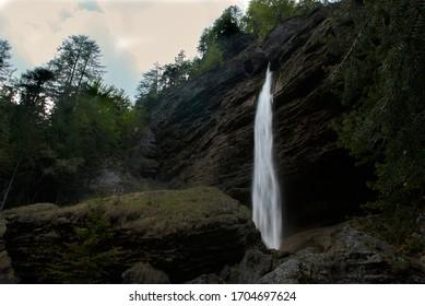 Pericnik waterfall in Slovenia near Kranjska Gora