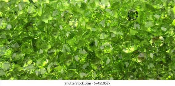 Peridot gemstone background,green background