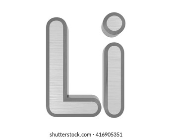 periodic table of elements lithium 3d title isolated on white 3d rendering - Periodic Table Symbol For Lithium