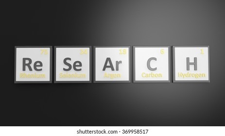 Periodic table elements symbols used form stock illustration periodic table of elements symbols used to form word research isolated on black urtaz Images