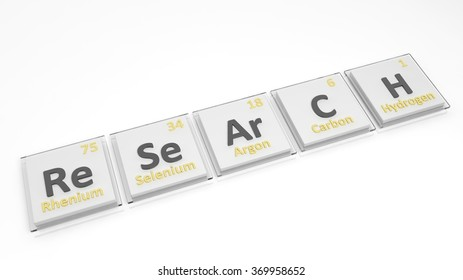 Periodic table elements symbols used form stock illustration periodic table of elements symbols used to form word research isolated on white urtaz Choice Image