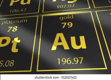 Silver chemical element images stock photos vectors shutterstock periodic table golden au mendeleev table closeup on gold urtaz Gallery