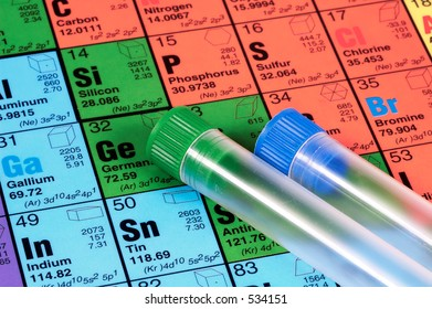 Periodic Table and Test Tubes
