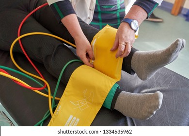 Peripheral artery disease measuring for patient ankle-brachial index (ABI) test limb ischemia