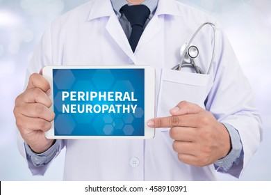 PERIPHERAL NEUROPATHY Doctor holding  digital tablet