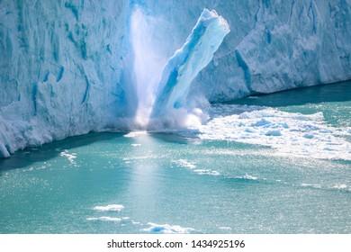 Perito Moreno Glaciar and lake in Patagonia Argentina