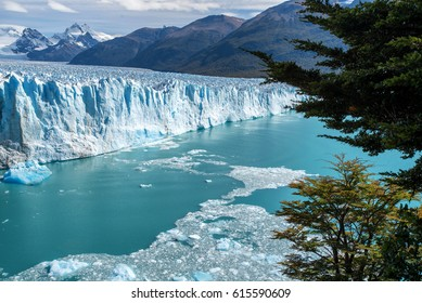The Perito Moreno glacier in Glaciares National Park outside El Calafate, Argentina