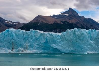 Perito Moreno glacier is located in Los Glaciares National Park, UNESCO world natural heritage, in the Santa Cruz province, Argentina, near to the city of El Calafate, in southern Patagonia.