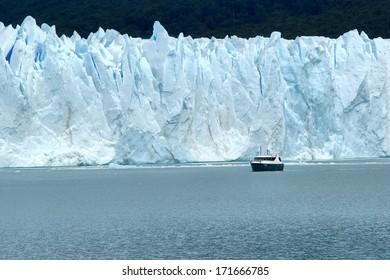 Perito Moreno Glacier located in the Los Glaciares National Park in the south west of Santa Cruz province, Argentina