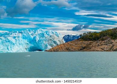 Perito Moreno Glacier on Argentina Lake at Los Glaciares National Park in Argentina