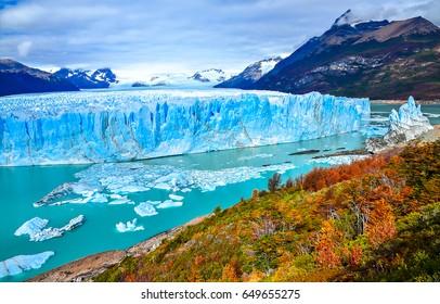 Perito Moreno glacier panoramic landscape in Patagonia, Argentina