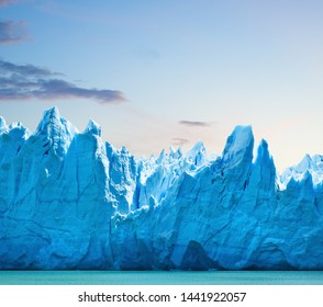 Perito Moreno glacier, patagonia, Argentina. Copy space.