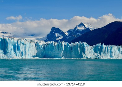 Perito Moreno Glacier in Patagonian Argentina featuring mountains and water
