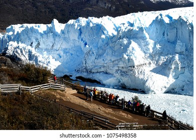 the Perito Moreno glacier in the province of Santa Cruz - Argentina is visited by thousands of people every year