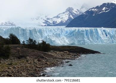 perito moreno glacier view with clouds, Calafate, Patagonia, Argentina