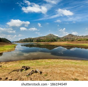 Periyar lake in Periyar wildlife sanctuary, Kumily, Kerala, India