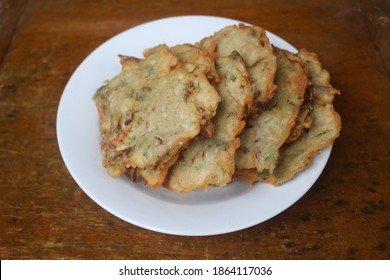 Perkedel, Indonesian fried mashed flour with small Nike fish