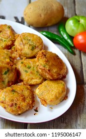 Perkedel, Indonesian fried mashed potato minced beef patties