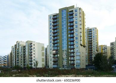 Perkunkiemis residential district in Vilnius town.