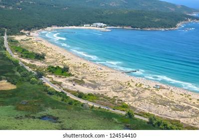 Perla Residence Primorsko Bulgaria Black sea from Sky