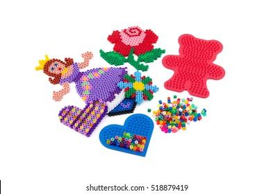 perler, beads, pegboards