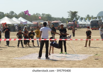 Perlis, Malaysia - March 04, 2017: Perlis East Wind Carnival was a yearly event of Perlis. Consist of food booth, game, challange, contest, and fun park.