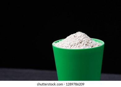 perlite for hydroponics vegetable in green pot
