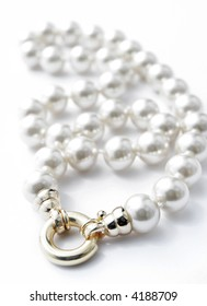 Perls isolated on white background
