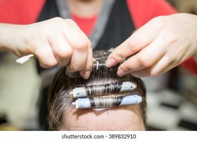 perm in the beauty salon