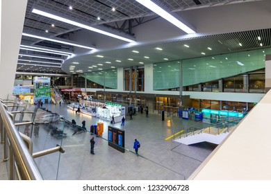 Perm / Russia - 11 12 2018: New Passenger Terminal of the International Airport of Perm