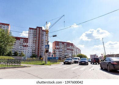 Perm, Russia - August 06, 2018: Central street of the city of Perm. Russian Federation